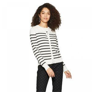 NWT A New Day Striped Cardigan Sweater XL Cream